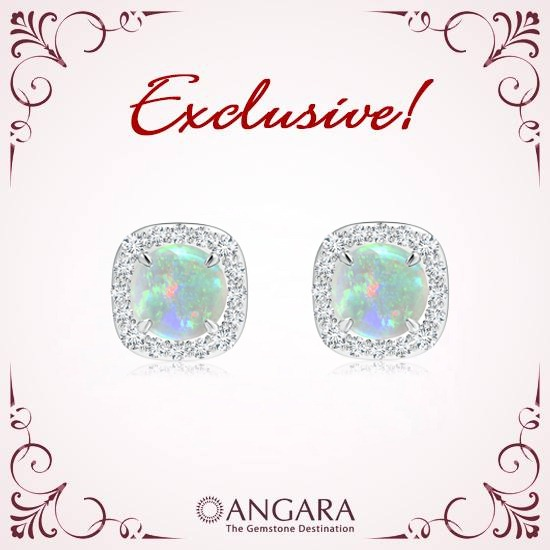 Claw-Cabochon-Opal-and-Diamond-Halo-Stud-Earrings