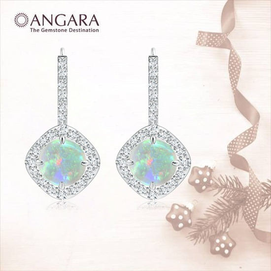 Claw-Cabochon-Opal-and-Diamond-Sideways-Halo-Earrings