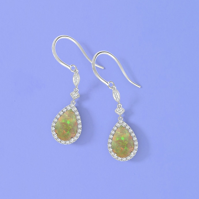pear-drop-cabochon-opal-and-diamond-halo-vintage-earrings