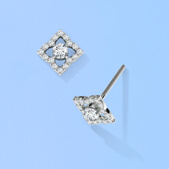 vintage-inspired-diamond-clover-stud-earrings